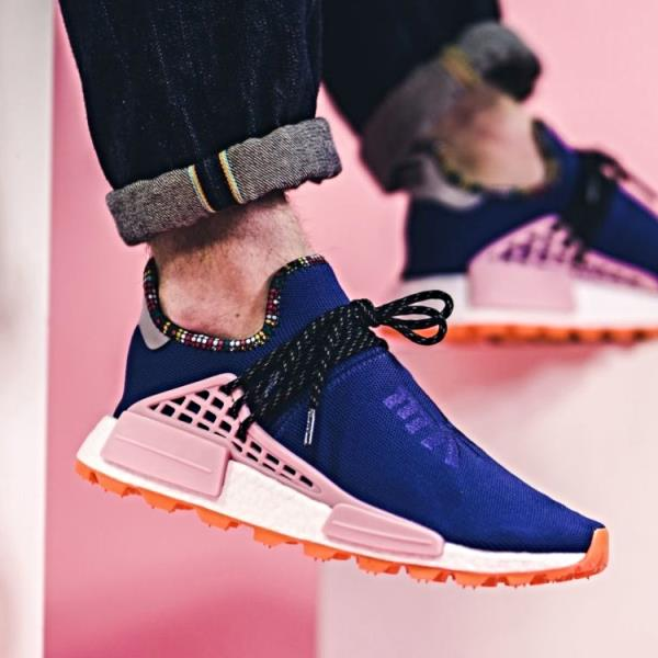 84de429779210 Adidas Pharrell Williams Nmd Solar hu Human Race Navy Size 7-12 Mens New  EE7579