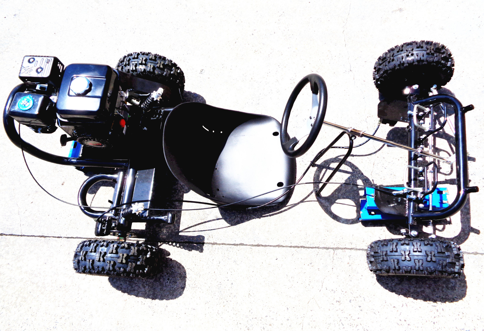 Go kart Buggy Cart Project Front and Rear Frame 9hp motor complete ...