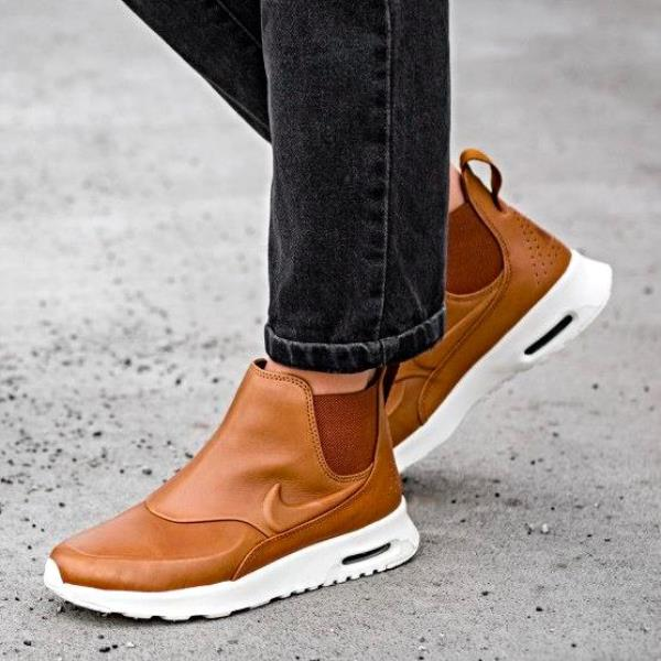 nike air max thea mid brown leather ankle boots tan size 5. Black Bedroom Furniture Sets. Home Design Ideas