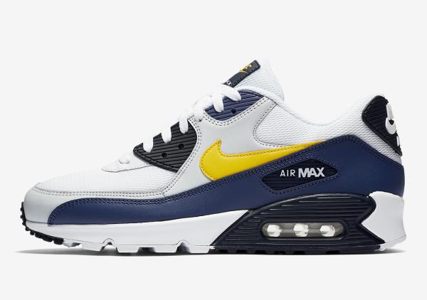 9ef717d0e7a Nike Air Max 90 essential White Yellow Blue Size US 7- 13 men sneakers 2018  off. 100% AUTHENTIC NIKE PRODUCT