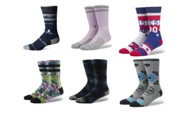 b84a2d0542a251 Details about NEW STANCE MENS L SKATE FUSION BANKS PINK SOCKS   NAVY TIE DYE    DIA SKULL