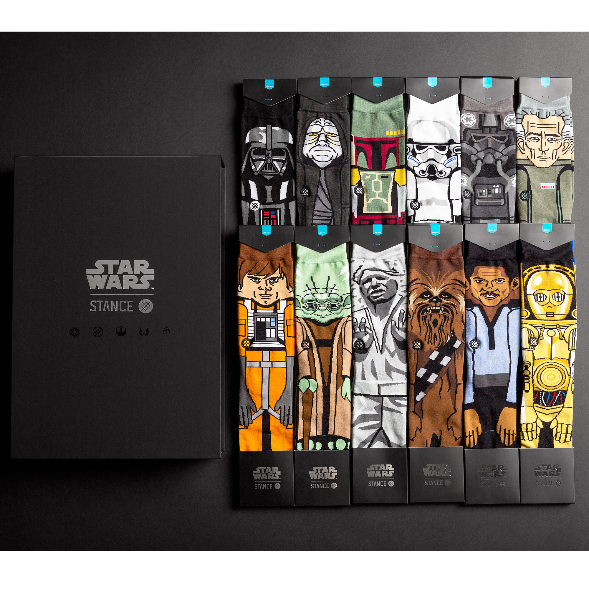 Stance x Star Wars Socks 12 Pack Gift Box The Force 2 Size L Movie Sox Set