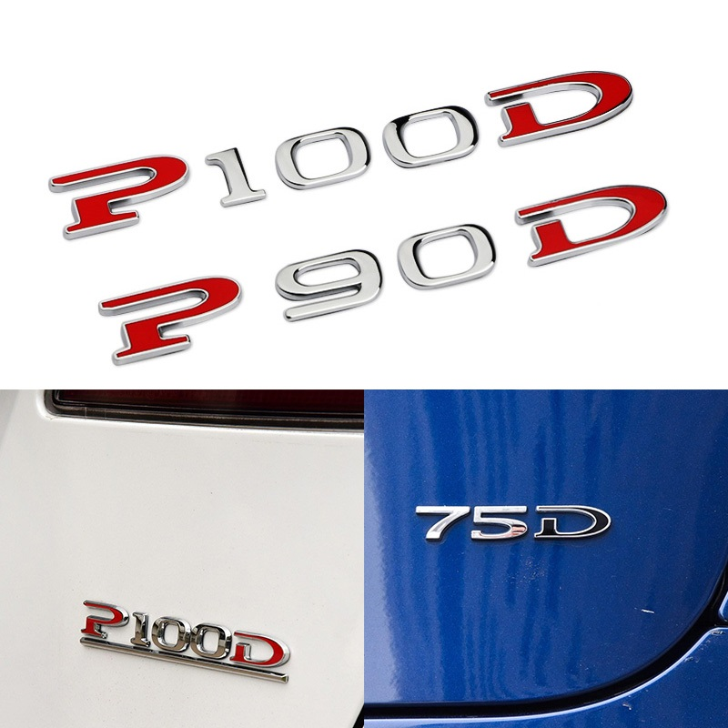 Replacement Red PD Sticker Rear Sticker Badge for Tesla Model S Model X