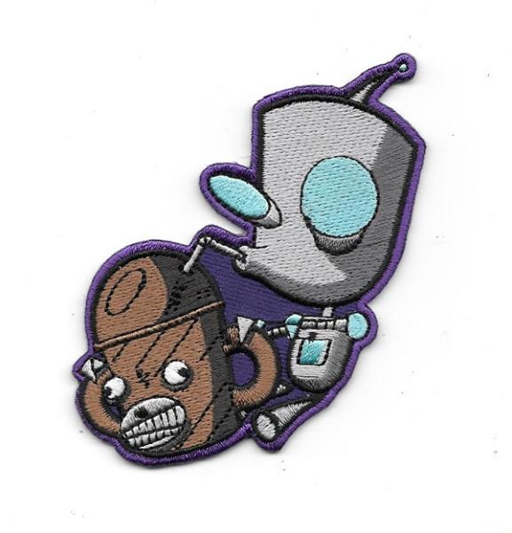 """Invader Zim Animated TV Series Gir Robot Figure Embroidered 4/"""" Patch"""