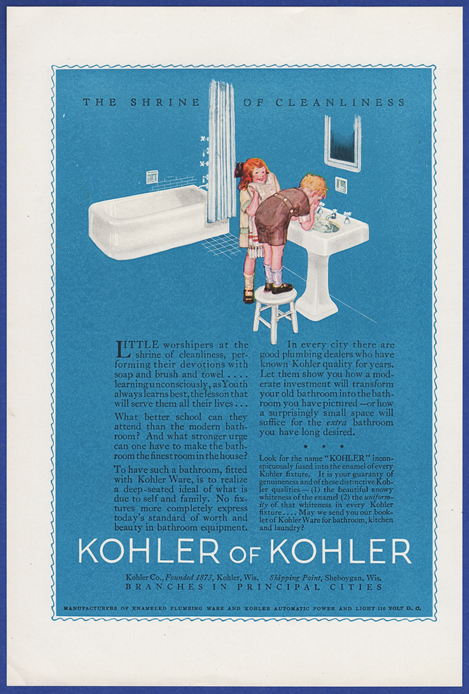 Vintage 1923 KOHLER OF KOHLER Plumbing Fixtures Bathroom Decor Print ...