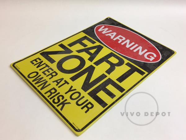 Warning-Fart Zone`Enter At Your Own Risk`Metal Sign`NEW`Sealed-/>Free To US