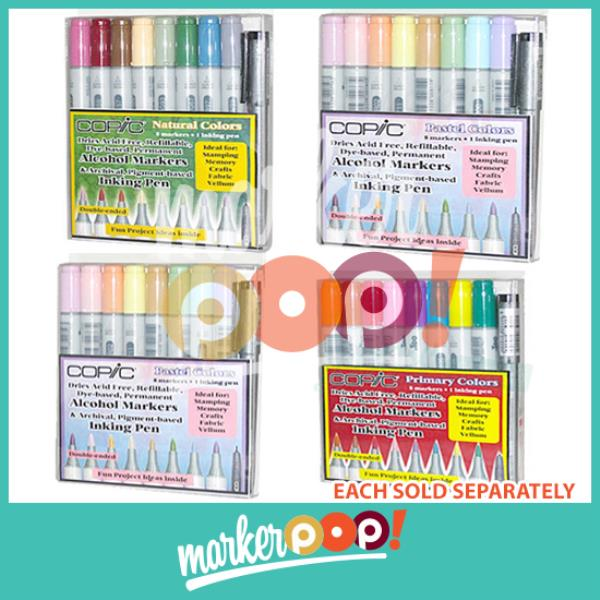 US AUTHORIZED RETAILER COPIC Ciao Marker Set 6 Collection
