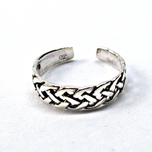 Sterling Silver Celtic Knot Design Adjustable Toe Ring~wicca~pagan~jewellery #1 Jewelry & Watches Fashion Jewelry