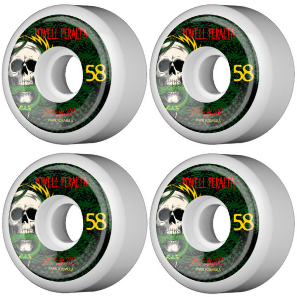 Powel Peralta Skateboard wheels McGill Skull & Snake 58MM 83B PF FREE POST