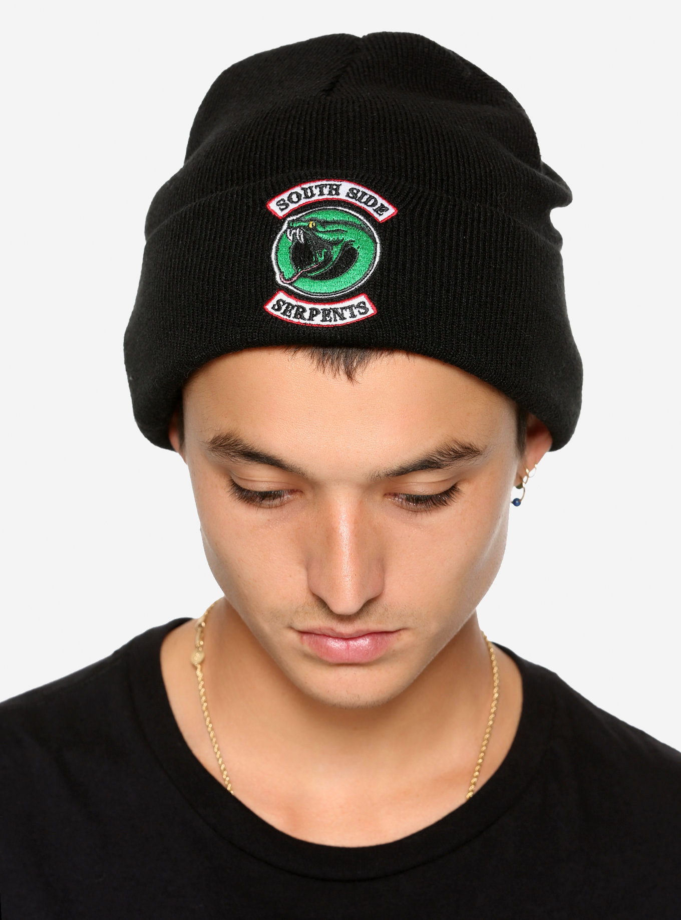 b89559abb1a Details about New Genuine Licensed Riverdale Southside Serpents Watchman  Knit Beanie Hat