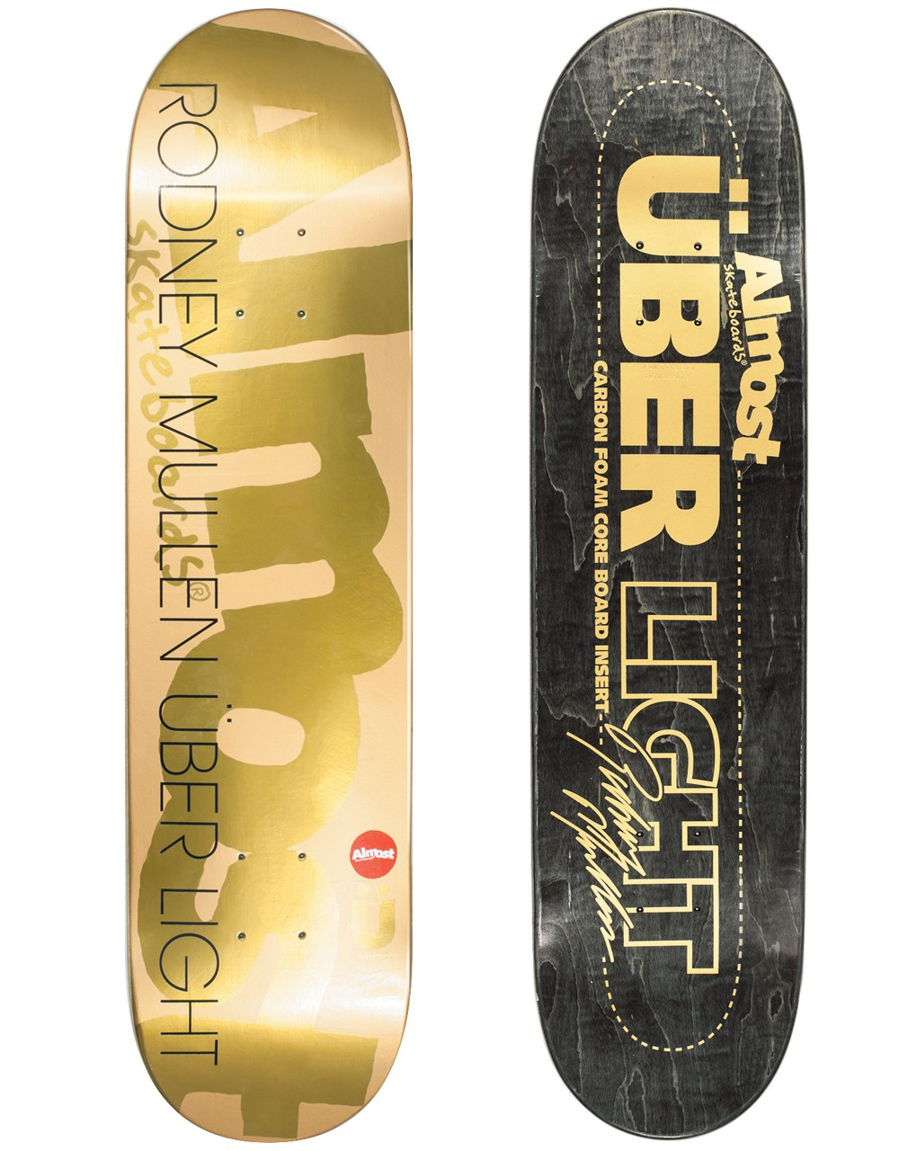 Almost Skateboard Deck Rodney Mullen Uber Gold Ops 8 Carbon Foam Core FREE POST FREE GRIP RRP 169