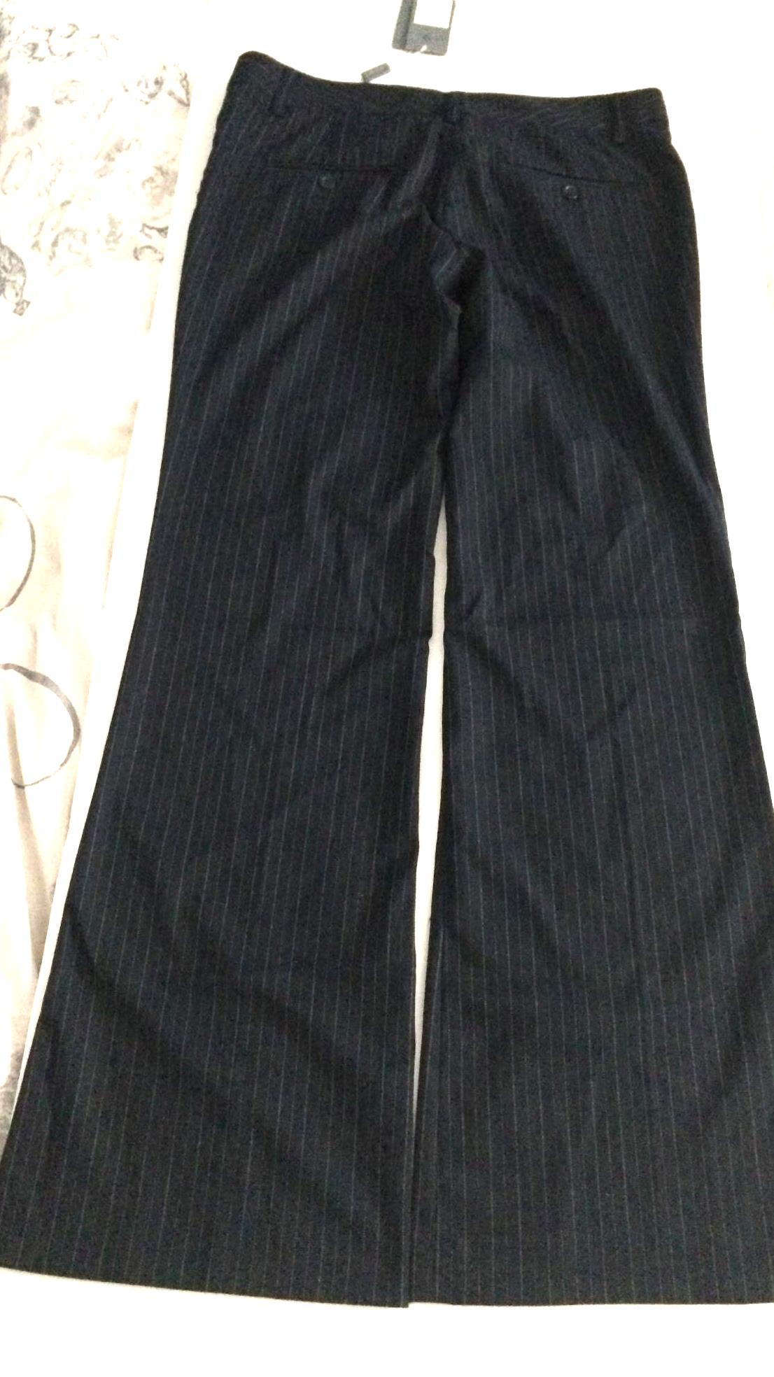 Ladies bootcut pinstripe trousers