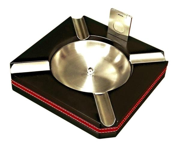 Leather Wrapped Prestige Import Group Xikar Executive Ashtray Can