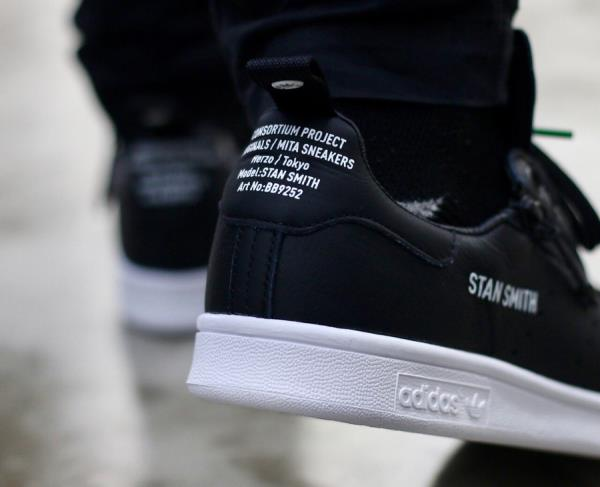 best sneakers 9d98a 4d9f4 Details about Adidas Consortium X Mita Stan Smith Sneaker Black Size 8 9 10  11 12 Mens NMD New