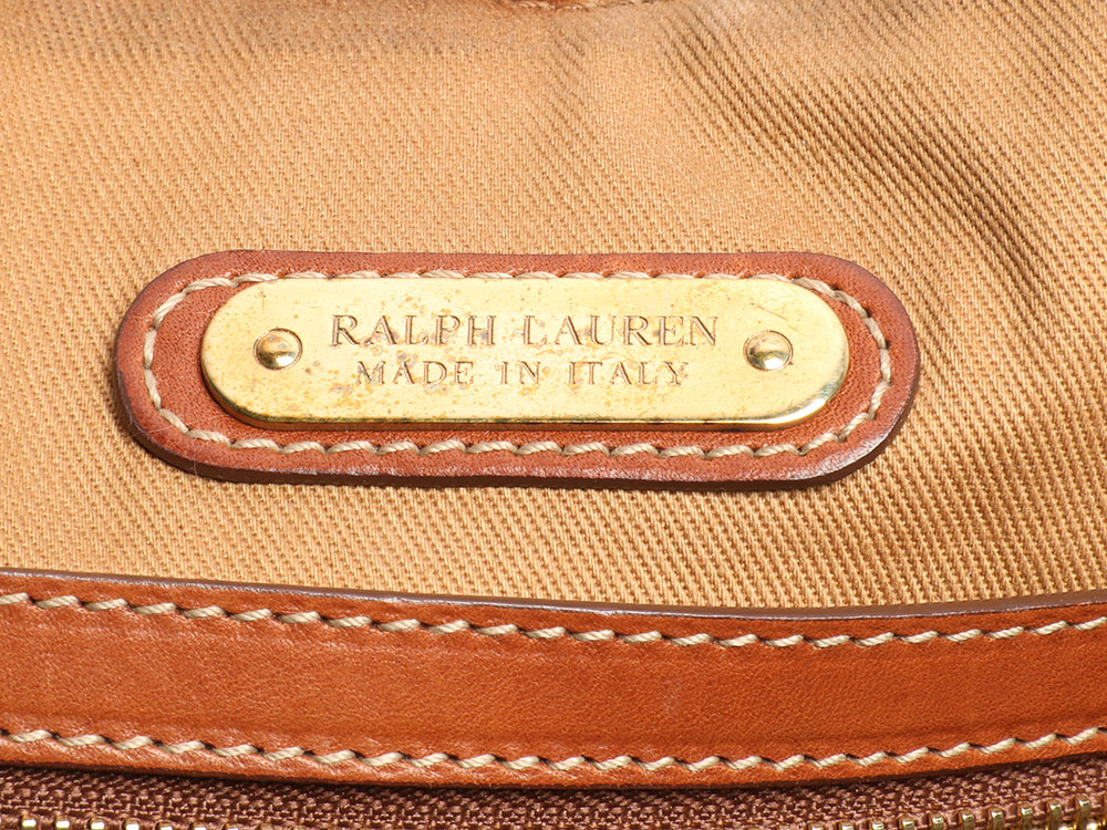 47cc447d52ca RALPH LAUREN Brown and Tan Leather Western Cutout Satchel Bag ~ Retail  3695