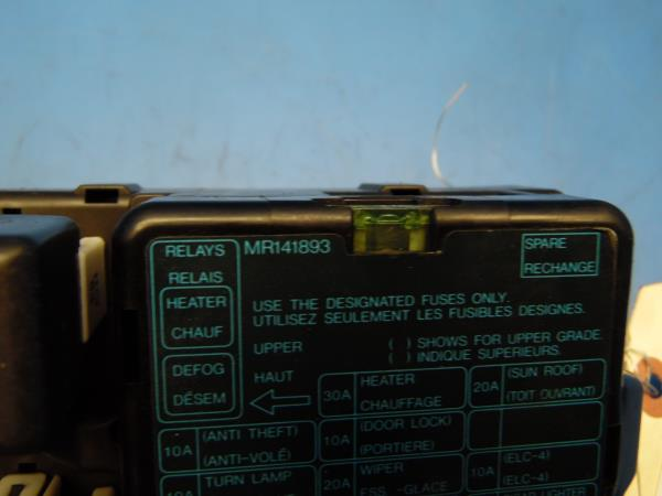 95 99 mitsubishi eclipse oem in dash fuse box with fuses relays rh ebay com