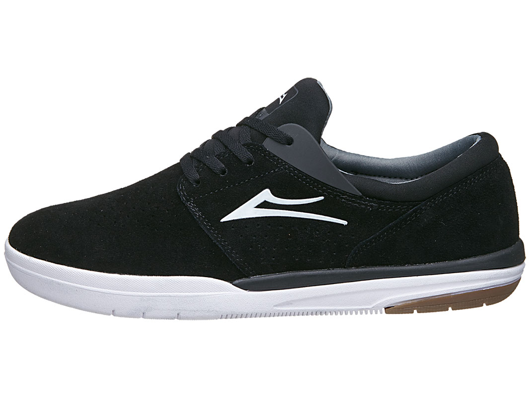 Lakai Shoes Fremont Black Suede Skateboard Sneakers FREE POST