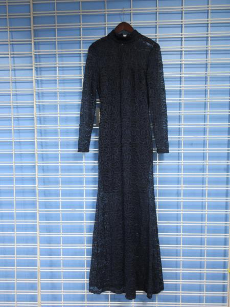 Details About Womens Marciano Long Sleeve Lace Dress Medium Sea Blue Floral Lace
