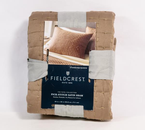 Fieldcrest Tonal Brown Pick Stitch Satin Pillow Sham 40 X 40 Simple Fieldcrest Decorative Pillows