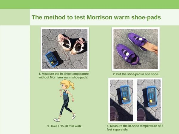 Shoe Pad Self Warming Insole Motion Pressure Heating No Battery Require