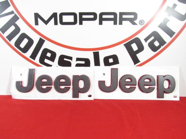 Details about JEEP WRANGLER JL RUBICON Fender Nameplates Set Of 2 Gray With  Red Outline OEM