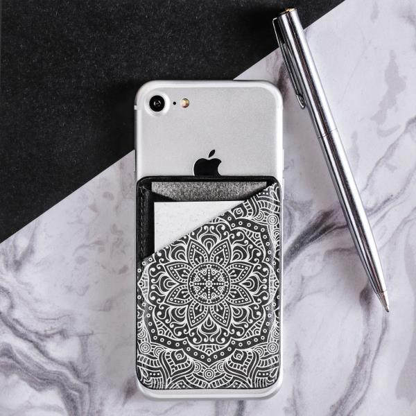 Details about Mandala iPhone Accessories Sticker Boho Phone Pocket Leather  Credit Card Holder
