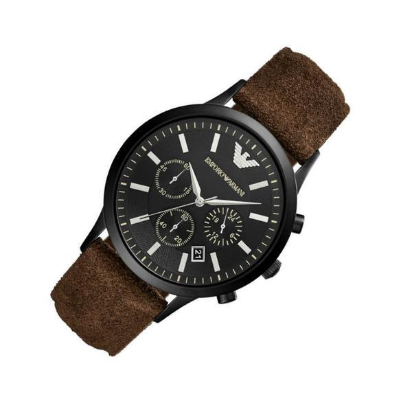 78bc8cb7 Details about 100% New Emporio Armani AR11078 Brown Leather Chronograph  Men's Gents 43mm Watch