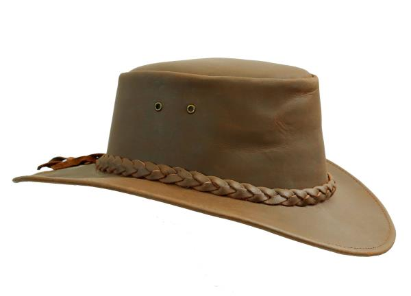Australia Style Western Outdoor Cowboy Hat Nullarbor in Real Leather ... c8937b988f3