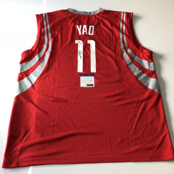 new product 78390 673f4 Details about Yao Ming signed jersey PSA/DNA Houston Rockets Autographed