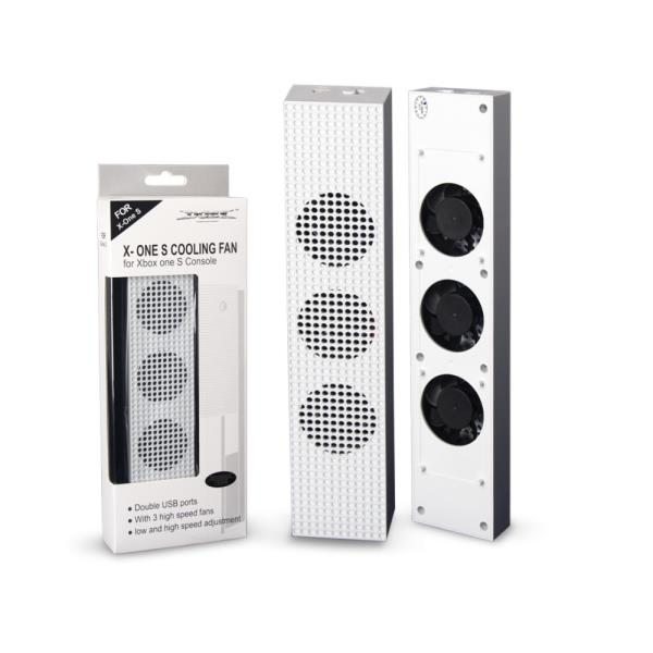 Dobe Xbox One S 3 Cooling Fan Speed Stand White For Microsoft Slim