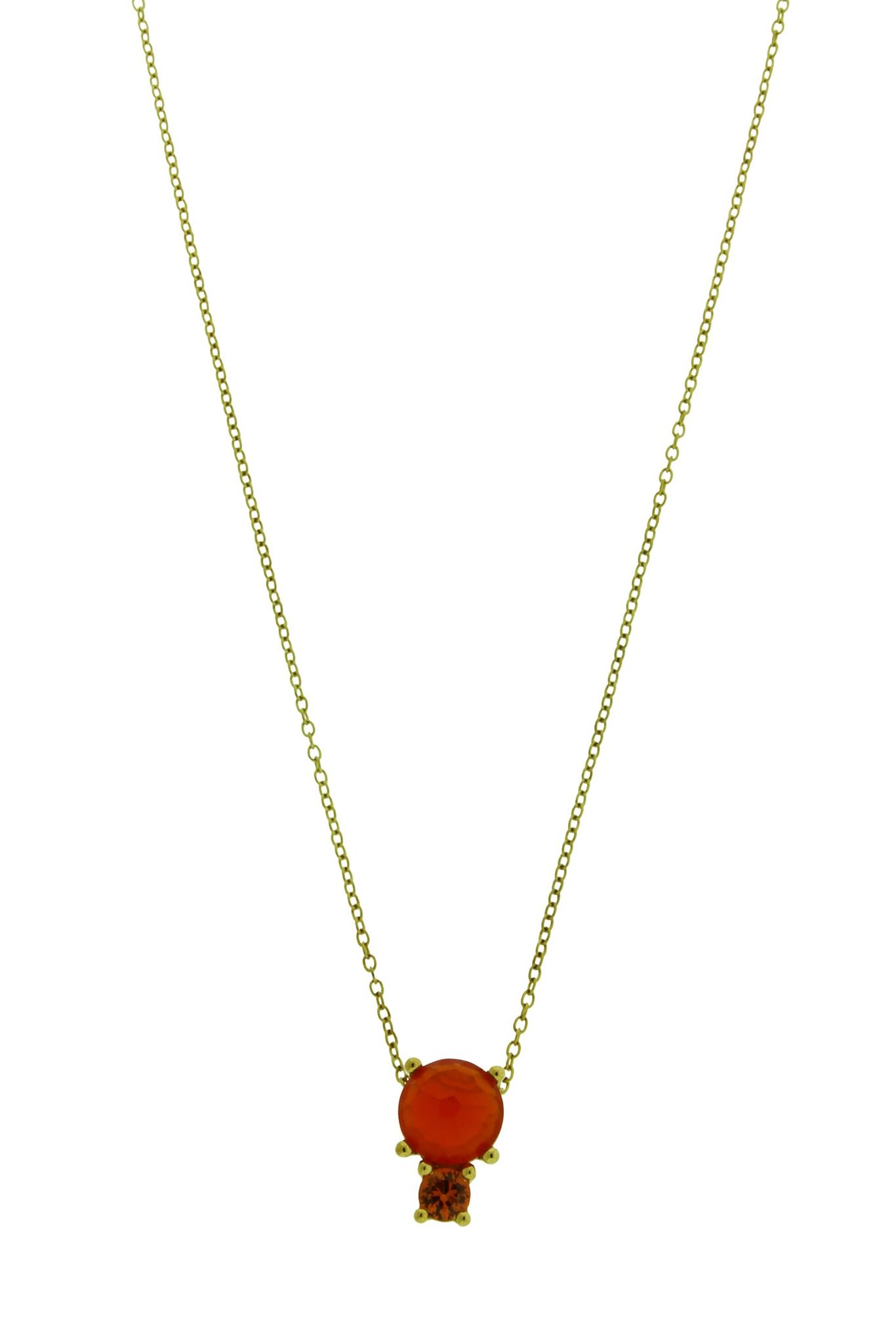 Ippolita 18k yellow gold lollipop carnelian orange sapphire ippolita 18k yellow gold lollipop carnelian orange sapphire pendant necklace aloadofball Gallery