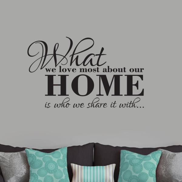 Love Sympathy Entryway Living Room Family Heaven In Our Home Wall Decal