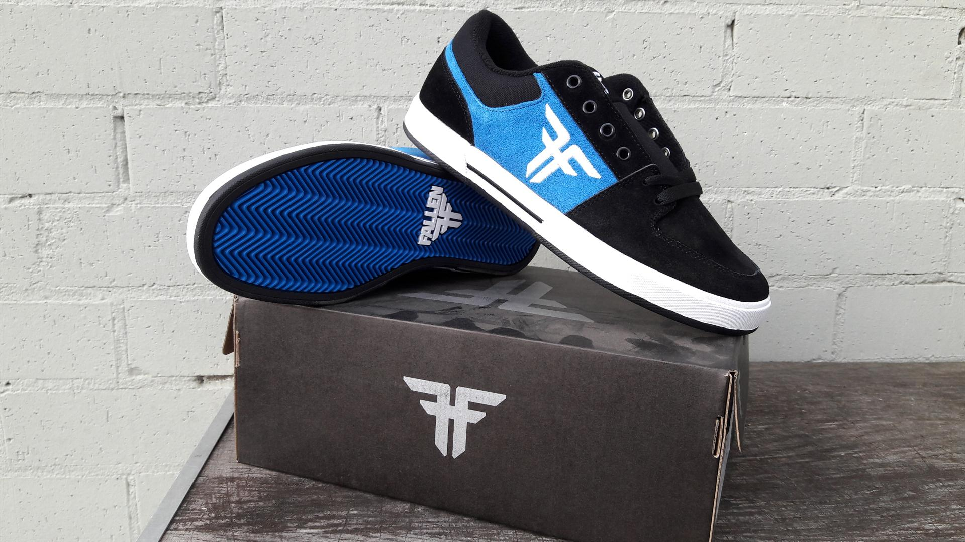 Fallen Shoes Patriot Black Blue Free Post New Skateboard Sneakers limited edition