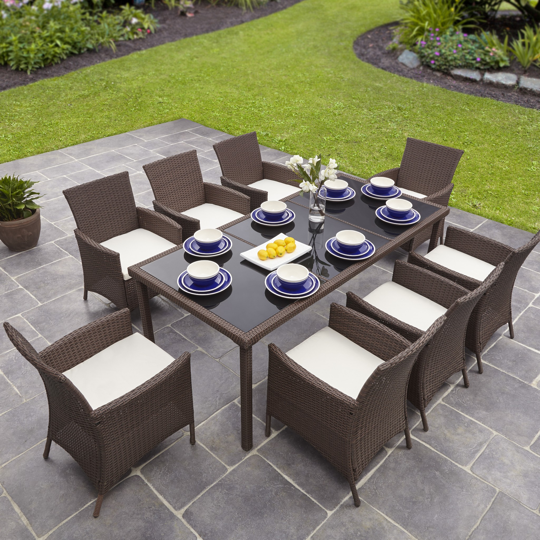 rectangular in table garden mix large home ideal rattan chair set roma seat and chairs coffee cream chocolate