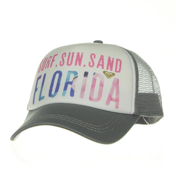 Be cool in the sun in this trendy Roxy Trucker Cap with mesh back and  adjustable back closure! 488fa64fd8