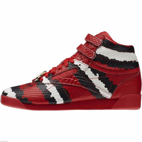08c30c5e03e5 ... Reebok Melody Ehsani Collab Freestyle HI Red Sneaker - MSRP  175.  Style  M48396 Color  Red Rush Chalk Black Gender  Womens