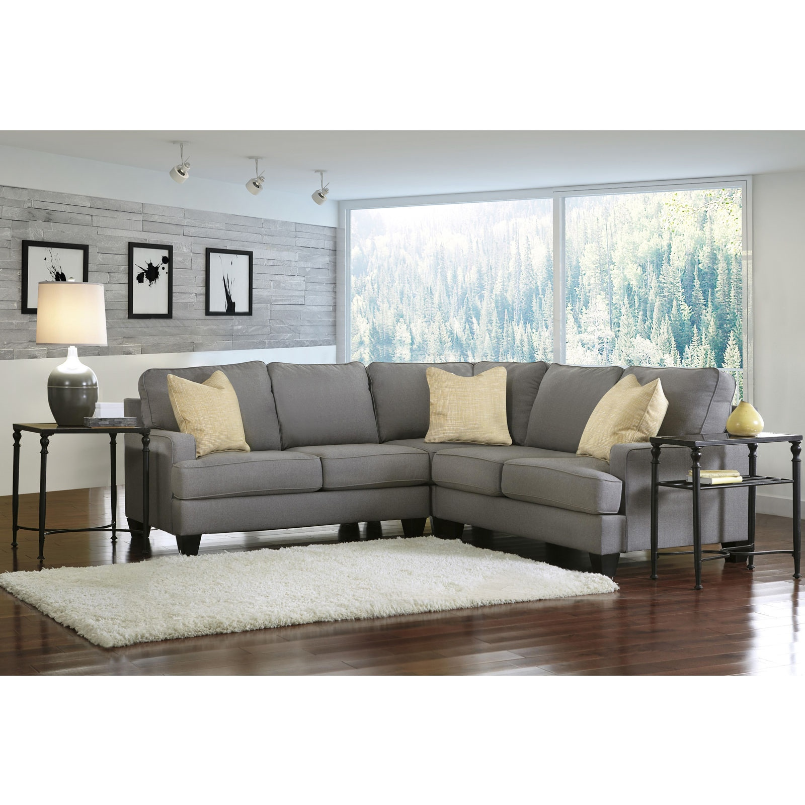 L Shape Fabric Retro Modern Danish Lounge Furniture Suite Chaise