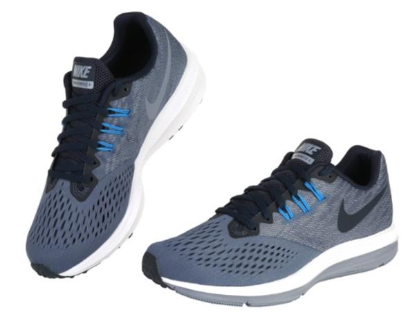 66ff1348ef037 Nike Men Zoom Winflo 4 Shoes Running Blue Black Casual Sneakers Shoe ...