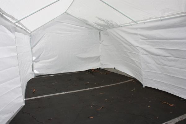 This Caravan Canopy Domain Carport Garage Sidewall / Enclosure Kit encloses your carport with a durable polyethylene walls. This enclosure kit is made of ... & Add On Canopy Garage Side Wall Kit 4 10u0027x20u0027 Tent Parking Carport ...
