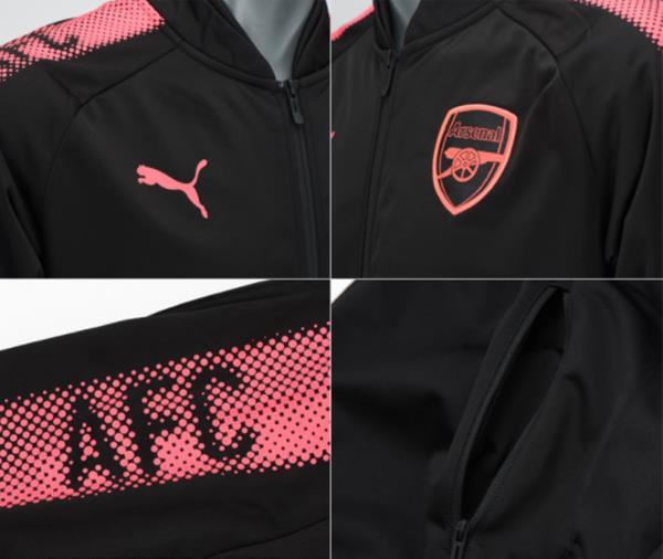 fc13bb16246a puma men arsenal stadium top jackets black pink running l s jacket