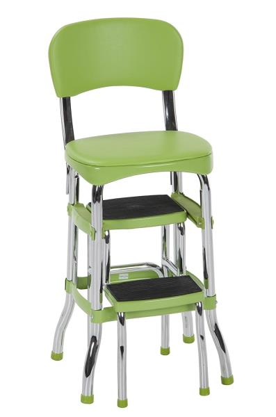 Pleasing Details About Green Folding Step Stool Kitchen Office Home Chair Back Retro 2 Platform Ladder Cjindustries Chair Design For Home Cjindustriesco