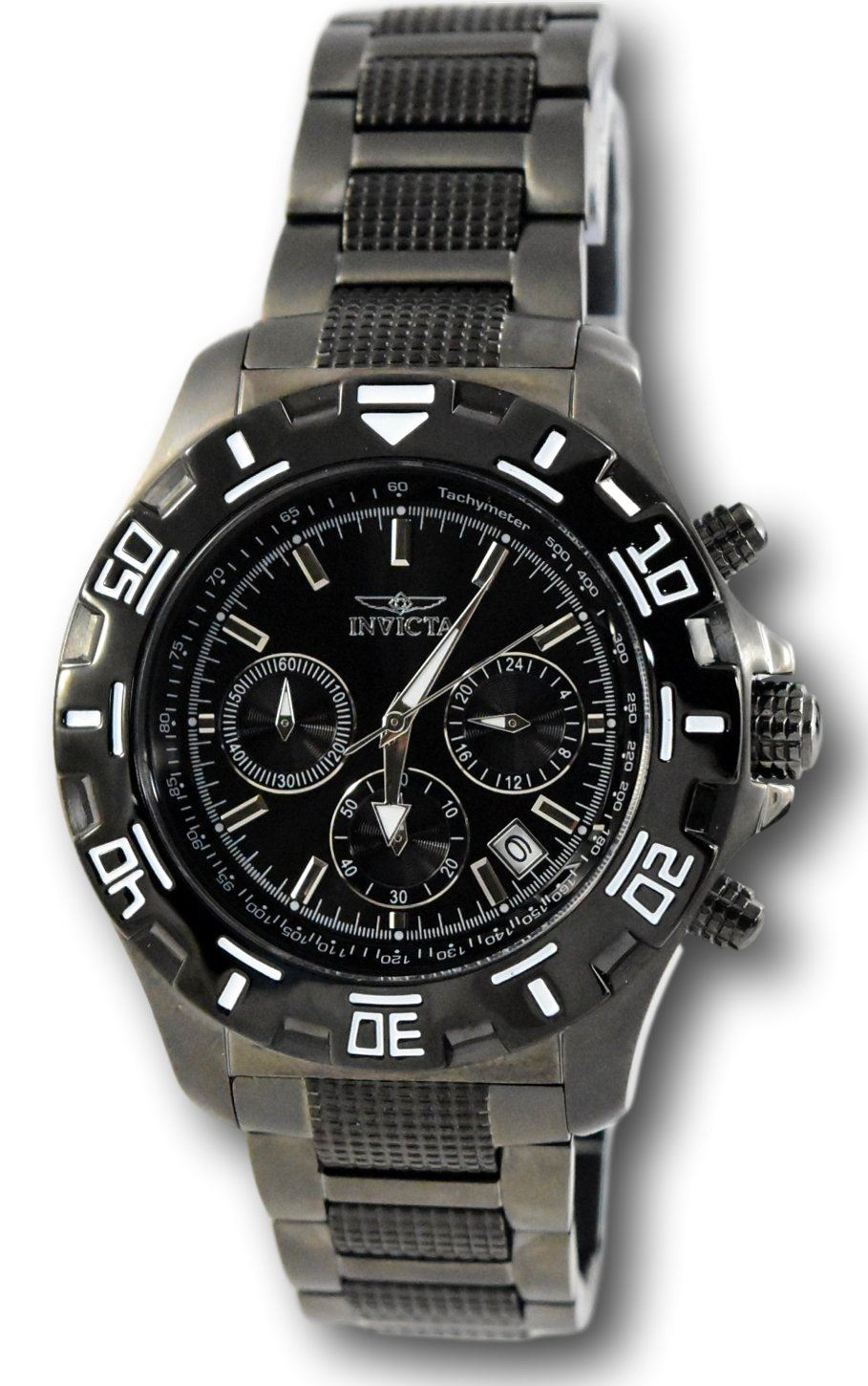 f58a30dd9 Invicta Python 6412 Men's Black Dial Stainless Steel Chronograph ...