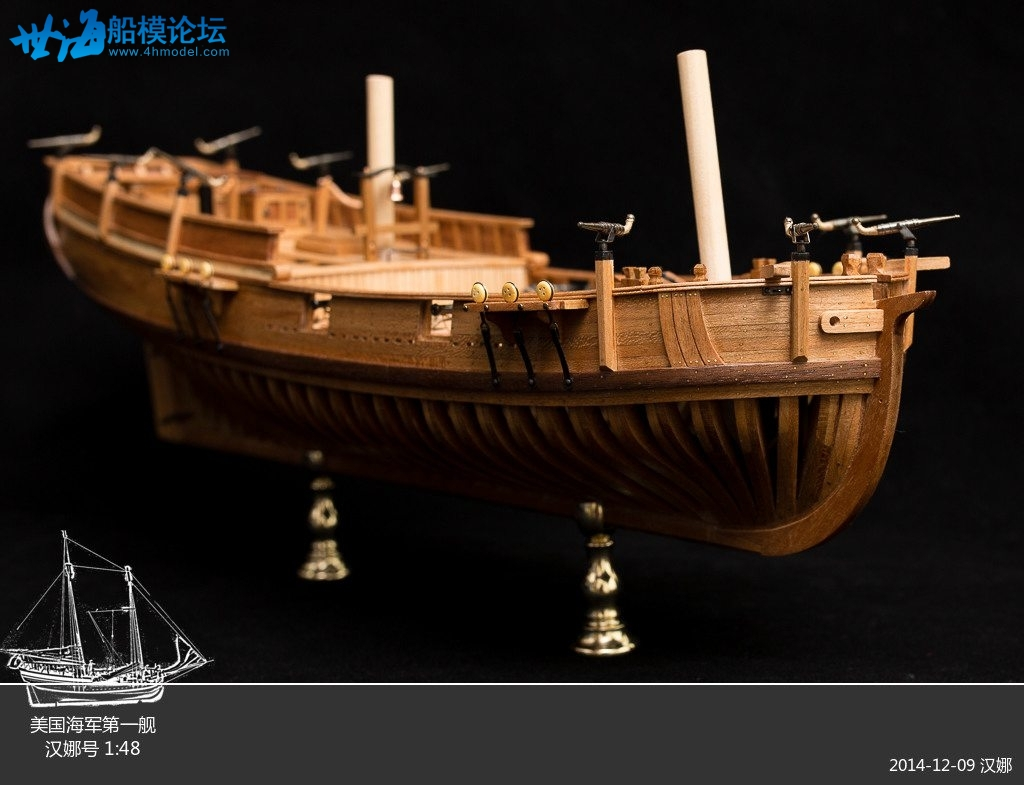 Uss Hannah Full Rib Model Ship Kit Scale 1 48 25 3 Quot Wood