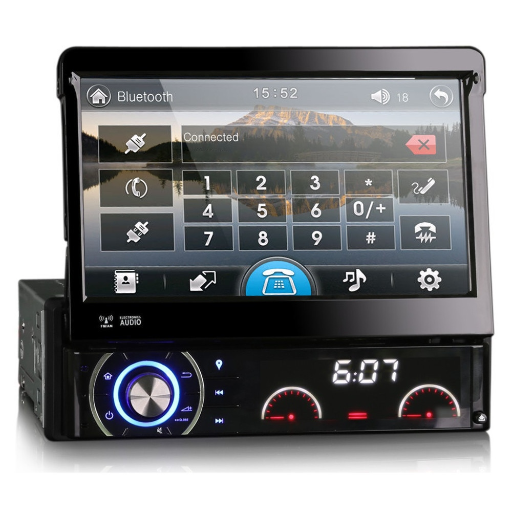 7 single din dab radio head unit gps sat nav bluetooth. Black Bedroom Furniture Sets. Home Design Ideas