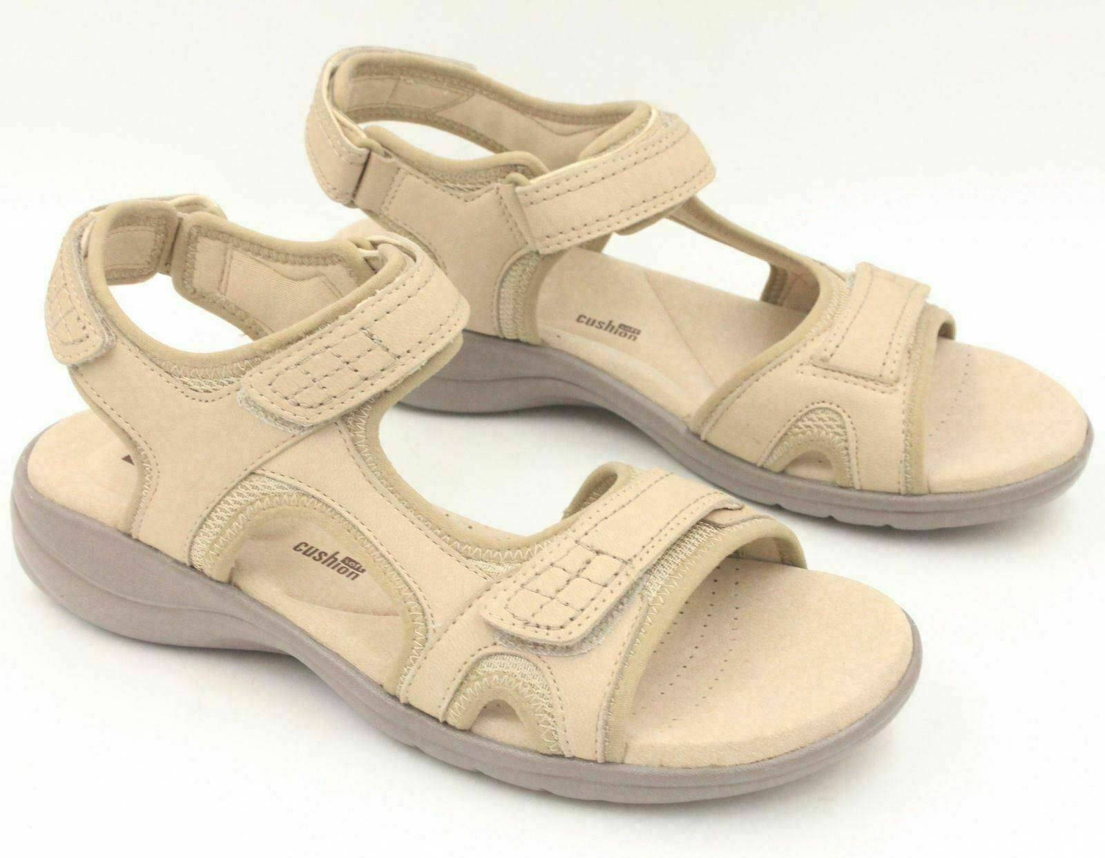 aeed100a669 CLARKS Saylie Jade Women Comfort Adjustable Sandals Size 6M Sand Brown  Leather
