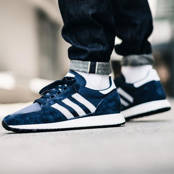 new products ff080 53d62 Adidas Originals Forest Grove Sneakers Collegiate Navy Size 7 8 9 10 11 12  Mens