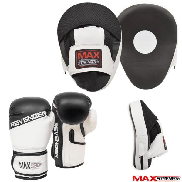 Boxing Focus Pads Hook and Jab Pro Fight Training Punch Gloves MMA