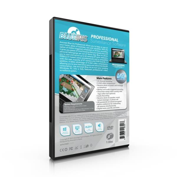 Details about Amcrest Blue Iris Professional Version 4 - Supports Many IP  Camera Brands