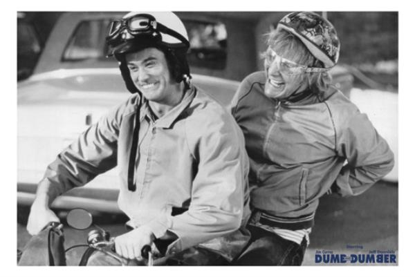 Details about Dumb and Dumber (1994) Harry & Lloyd on Scooter Scene 22x33  Movie Poster Print