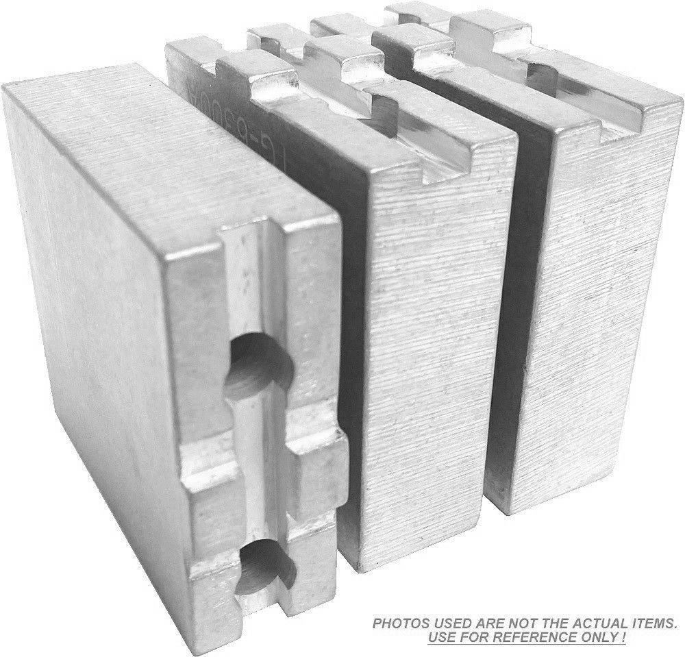 "RTG-8200A ALUMINUM ROUND JAWS FOR TONGUE /& GROOVE 8/"" CHUCK W//A 2/"" HT 3PC SET"